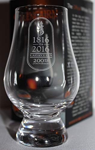LAGAVULIN 200TH ANNIVERSARY RAMPANT LION LOGO GLENCAIRN SINGLE MALT SCOTCH WHISKY TASTING GLASS