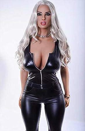 Muñeca de mujer perfecta de silicona hinchable mitad silicona 160 ...