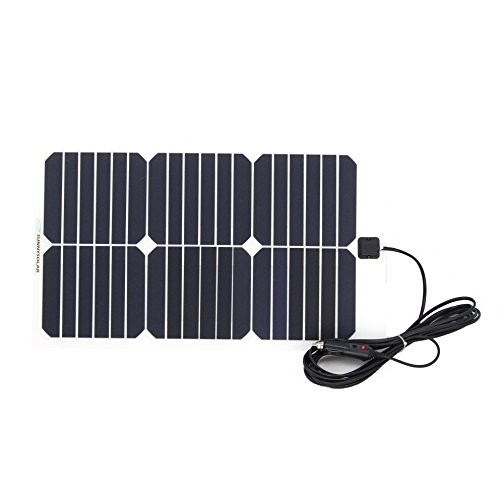 NW 1776 Flexible Solar Battery Maintainer 18V 12V 20W Solar Car Boat Power Panel Battery Charger Maintainer for Automobile Motorcycle Tractor Boat Batteries by NW 1776 (Image #1)