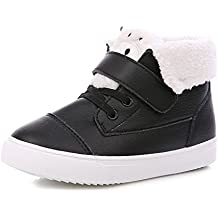 Baqijian Winter Shoes Girls Kids Shoes Warm Plus Velvet Children Cotton-Padded Shoes Boys Girl Snow Boots
