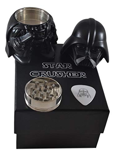 Star Wars - Darth Vader 3 Piece Magnetic Grinder - Used for Herbs, Tobacco, and other Spices -
