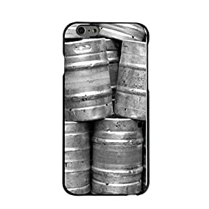 "CUSTOM Black Hard Plastic Snap-On Case for Apple iPhone 6 PLUS (5.5"" Model) - Beer Kegs"