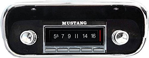 - 1967-1973 Ford Mustang 300 watt USA-740 AM FM Car Stereo/Radio with built-in Bluetooth, AUX Inputs, Color Change LCD Digital Display