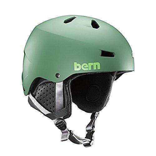 Bern Macon Helmet - Matte Leaf Green/Black Liner (Matte Black Leaf)