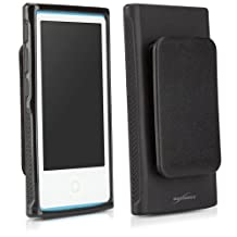 BoxWave Blackout Case with Clip for Apple New iPod Nano (7th Generation)- Durable, Slim-Fit Black TPU Case with holster clip, Stylish Dual Glossy and Matte Finish - Apple New iPod Nano (7th Generation) Cases and Covers