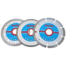 Fixtec Expert 3 pieces 4-1/2 Inch Angle Grinder Diamond Cutting Disc Set for Tiles/ Universal Segmented/ Turbo