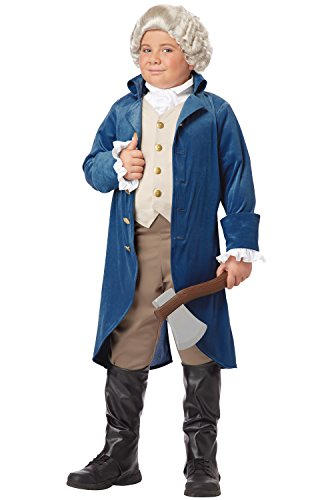 Colonial Boy Wig (California Costumes George Washington/Thomas Jefferson/Alexander Hamilton and Colonial Child Costume, Large)