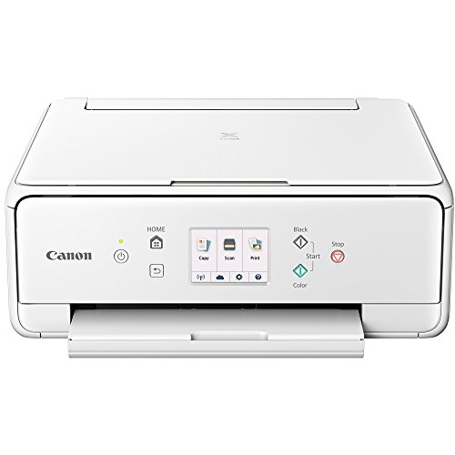 Canon PIXMA TS6120 Wireless All-in-One Compact Printer with Scanner & Copier White (2229C022) Corel Paint Shop Pro X9 Digital Download & High Speed 6-Foot USB Printer Cable by Canon (Image #1)