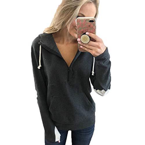 ANJUNIE Autumn Winter Soft High-NeckPullover, Ultra Fashion Hooded Pocket Sweatershirt ()
