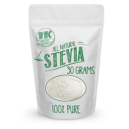 Ideal No Calorie Sweetener (WHC All Natural Stevia Powder (30 Grams / 203 Servings) | Highly Concentrated Pure Extract | No Fillers, Additives or Artificial Ingredients | Zero-Calorie Sweetener | Best Sugar Substitute)