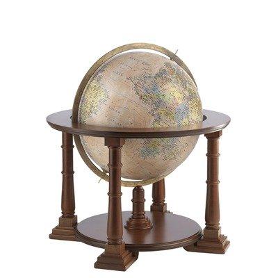 Zoffoli Mercatore 24 in. Floor Globe in Antique Ocean w Wood Stand