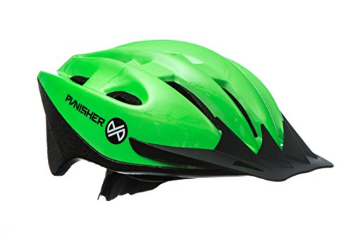 Punisher Skateboards Punisher 18-Vent Adult Cycling Helmet with Abs Shell, Neon Green