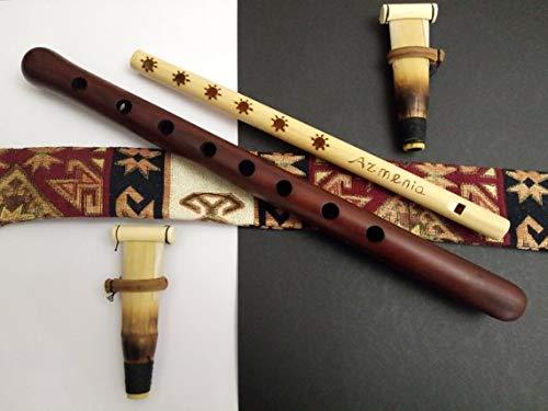 Armenian Duduk, Pro Duduk, Professional Duduk - 2 Reeds - national case, free gift Flute and Playing Instruction by Azo33