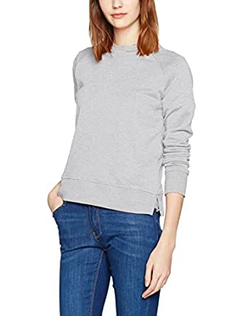 ONLY onlLOTUS LS O-NECK NOOS, sudadera Mujer, Gris (Light Grey Melange), 34 (Talla del fabricante: X-Small)