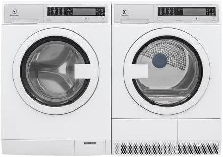 "B0776Z9CJY Front Load Compact EFLS210TIW 24"" Washer with EFDE210TIW 24"" Electric Dryer Laundry Pair in White 41PflXnQ2RL."