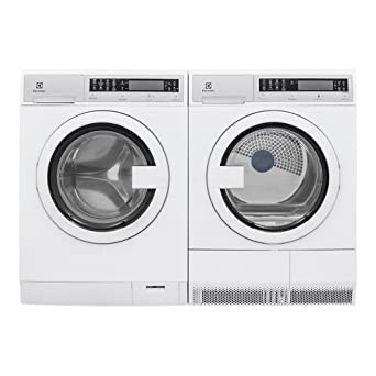Electrolux White Compact Front Load Laundry Pair with EFLS210TIW 24 Washer and EFDE210TIW 24 Electric Dryer