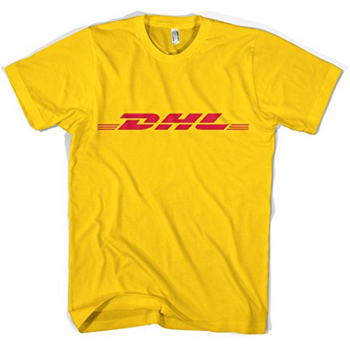 Dhl Unisex T Shirt All Sizes Colours  S  Yellow