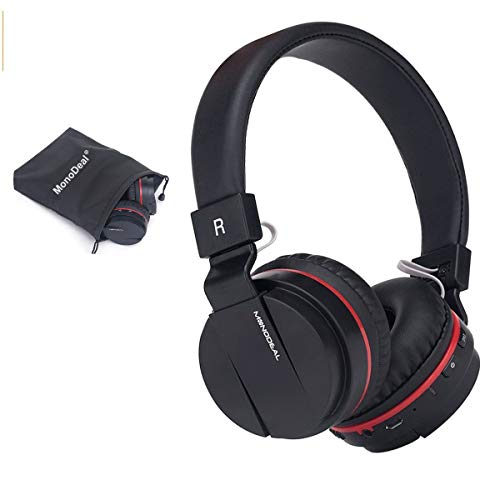 (Active Noise Cancelling Wired/Wireless Bluetooth Headphones with Mic,Monodeal Foldable on The Ear Headset,Soft Memory-Protein Earmuffs,Hi-Fi Stereo Headset for PC/Cell Phones/TV)