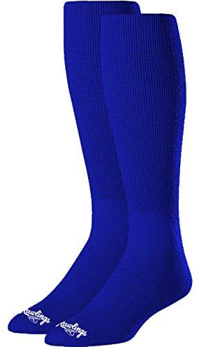 Rawlings SOCL-BLU Baseball Socks 2 Pair (Large/Royal Blue)