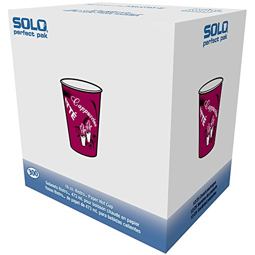 - Solo OF10BI-0041 10 oz Bistro SSP Paper Hot Cup (Case of 300)