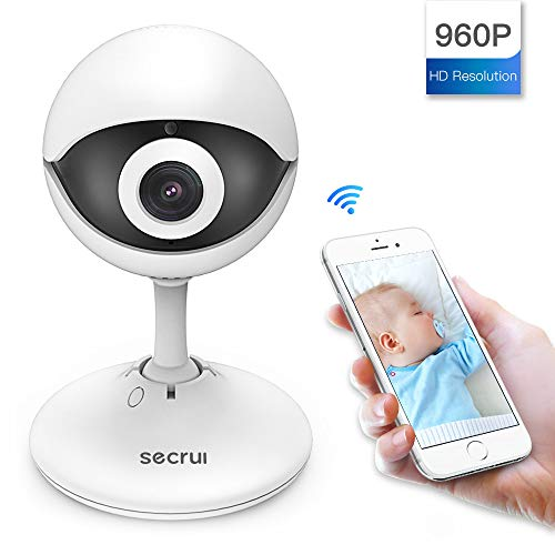 SECRUI Wireless Indoor IP Camera, 960P 2-Way Audio Night Vision Surveillance Camera Worked with iOS and Android for Home Security
