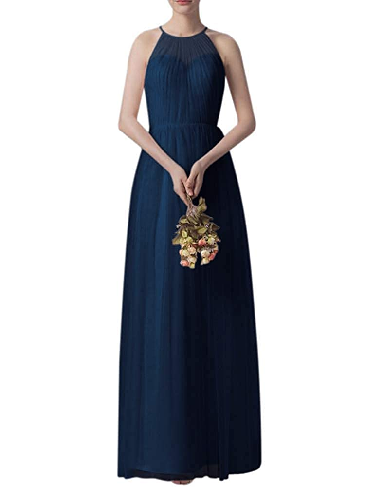Navy bluee Bridesmaid Dress Women's Ruffle Tulle Wedding Cocktail Party Dresses
