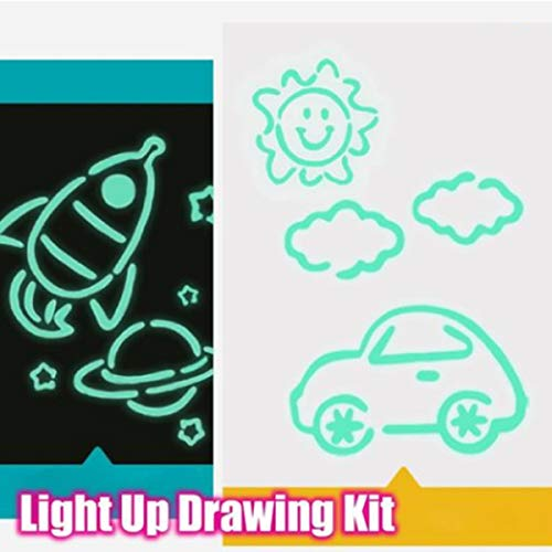 Epicharm Children Kids Light up Drawing Fun Developing Toy Draw Sketchpad Board Portable
