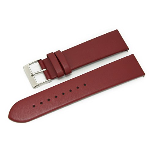 CASSIS Loire Genuine Calf Leather Watch Strap with Quick RELASE 19mm Burgundy with Tool X1026H19081019