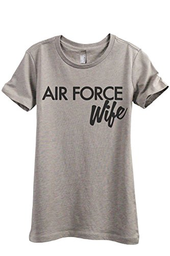 Thread Tank Air Force Wife Women's Fashion Relaxed T-Shirt Tee Heather Tan Large