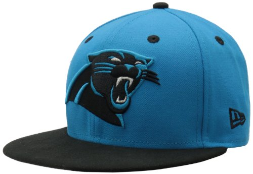 NFL Carolina Panthers Two Tone 59Fifty Fitted Cap, Blue/Black, 7 1/2