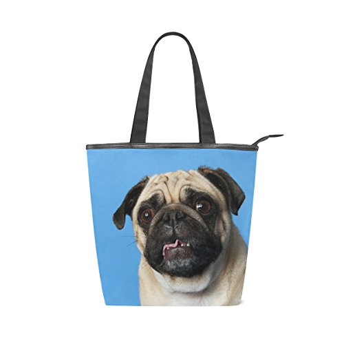 Pug Bag Canvas Shoulder MyDaily Handbag Dog Tote Tote Womens Canvas MyDaily SR0qR1w