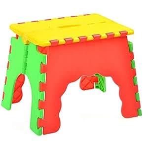 Children's plastic folding stool