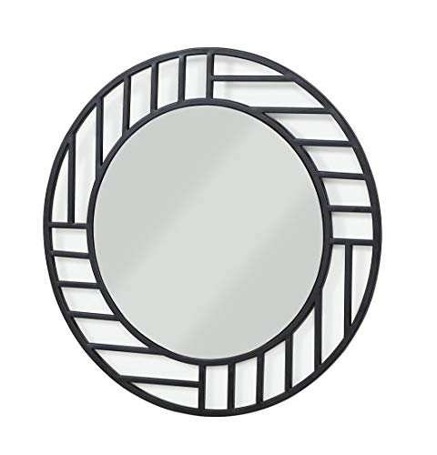 Adler Wall - Now House by Jonathan Adler Grid Wall Mirror, Black