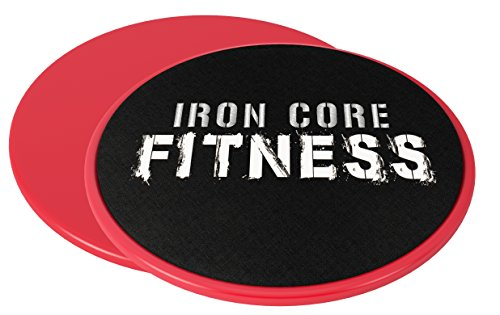 2-x-Dual-Sided-Gliding-Discs-Core-Sliders-by-Iron-Core-Fitness-Ultimate-Core-Trainer-Gym-Home-Abdominal-Total-Body-Workout-Equipment-For-use-on-ALL-surfaces