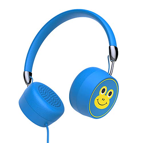 Kids Headphones, GORSUN Wired On Ear Headphones with 85dB Volume Limited Hearing Protection Headphones for Children Toddler(Blue)
