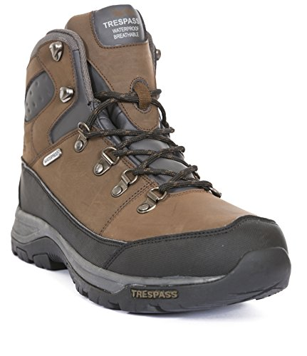 Trespass Thorburn, Stivali da Escursionismo Alti Uomo Marrone (Dark Brown)