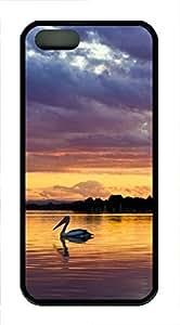 iPhone 5 5S Case Pelican animals TPU Custom iPhone 5 5S Case Cover Black