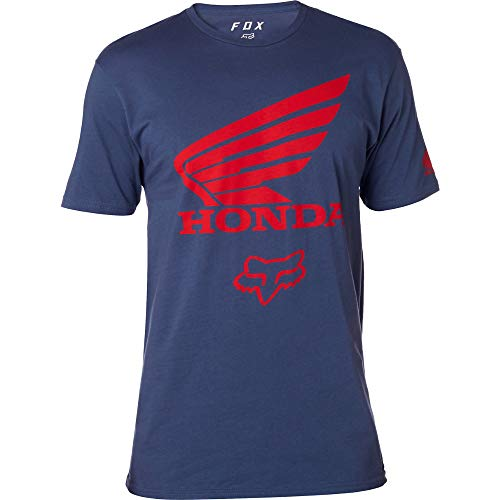 Honda Team T-shirt - Fox Racing Honda Premium T-Shirt-Light Indigo-S