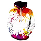 SamMoSon Men Sweatshirts Hoodies, Men's Autumn Winter 3D Print Long Sleeve Hooded Sweatershirt Top Blouse