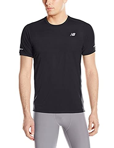 New Balance Men's NB Ice Short Sleeve Top, Black, (New Balance Abbigliamento Da Tennis)