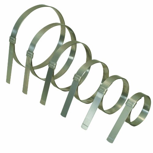 BAND-IT JS2169 Junior 3/4'' Wide x 0.030'' Thick, 6'' Diameter, 201 Stainless Steel Smooth I.D. Clamp (25 Per Box)