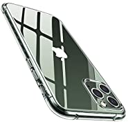AINOPE Compatible iPhone 11 Pro Cases,Cyrstal Clear [Anti-Drop] Phone Case 11Pro [Anti Smudge][Soft TPU][Scratch-Resistant] with Screen and Camera Protection iPhone 11 Pro Cover 5.8in (2019)