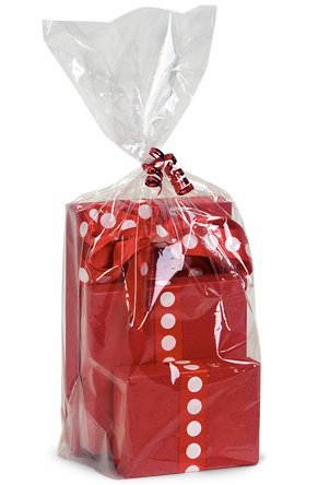 Cks9110 Cakesupplyshop- 100pack Clear Cello/cellophane Bags Gift Basket Packaging Bags Flat- 18'' X 30'' by CKCR-3