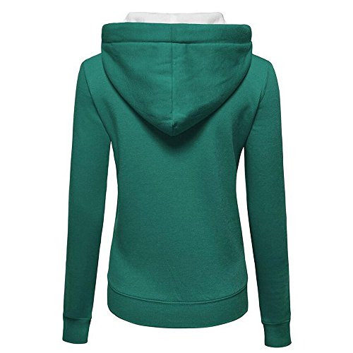 Womens Hoody Hoodies Warm Coat Jumper Jacket Zip Hooded Pullover Green NEEDRA Sweatershirt dt6Fdq