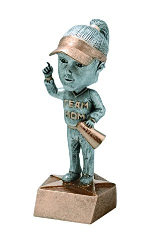 Female Team Mom Bobblehead Trophy Award