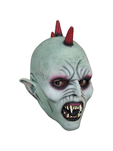 Undead Kids Latex Mask (Vampire Punk Kids Child Size Mask Latex Halloween Undead Horror Scary Fangs)