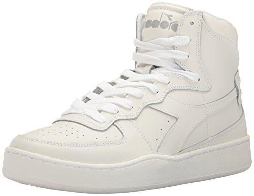 Diadora Men's MI Basket Skate Shoe, White/White, 10 M US