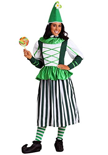 Plus Size Deluxe Munchkin Woman Costume -