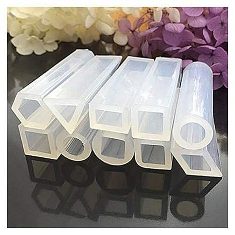 symboat 10 pcs/set Cuboids silicona molde resina molde colgante para DIY Joyas Perlas Fabrication: Amazon.es: Bricolaje y herramientas
