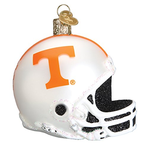- Old World Christmas Glass Blown Ornament with S-Hook and Gift Box, College Football Helmet Collection (Tennessee)